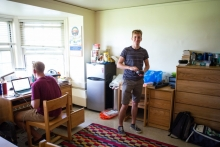 boys in a dorm room